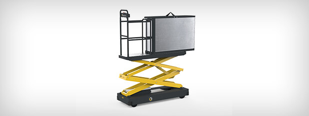 Qii-Lift harvesting trolley with bottom unloading container