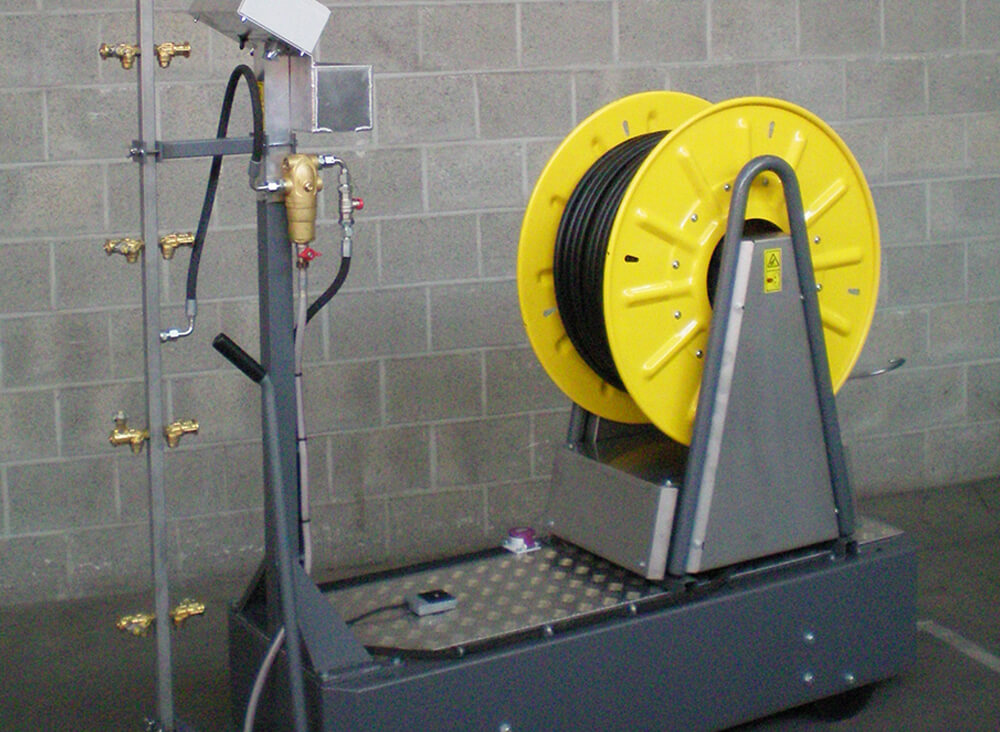 Hose reel hosereel spraying