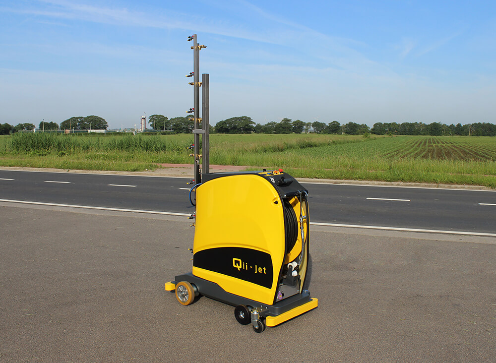 Qii-Jet automatic spraying cart hosereel