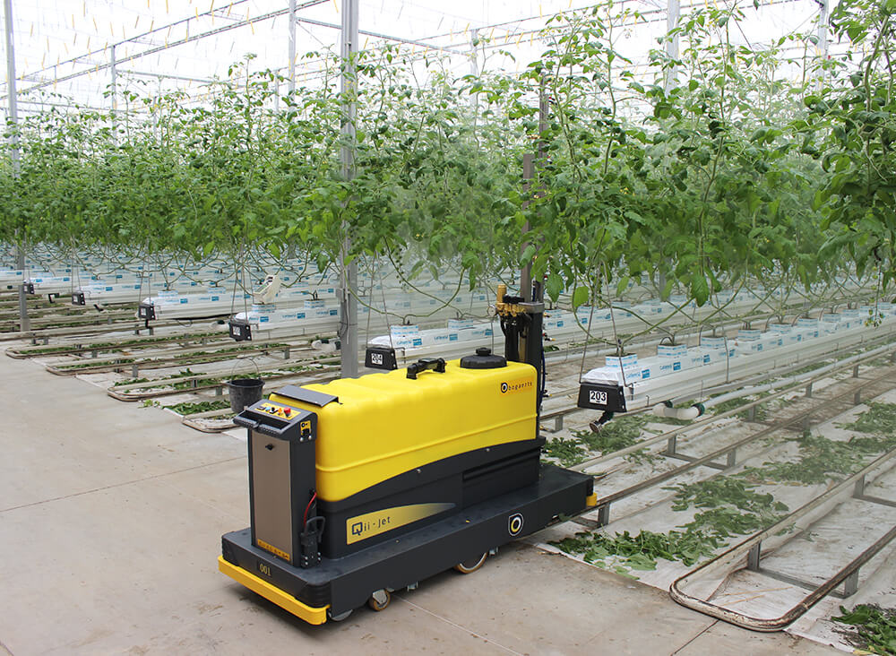 Qii-Jet automatic spraying cart