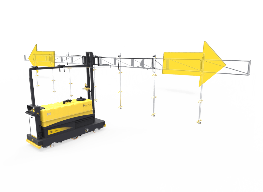 Modular spray boom - spray boom extensions determined by bay width