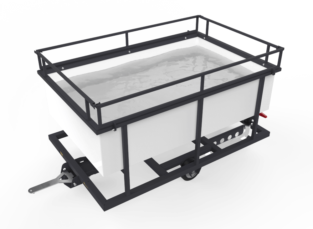 Transport cart with water tank